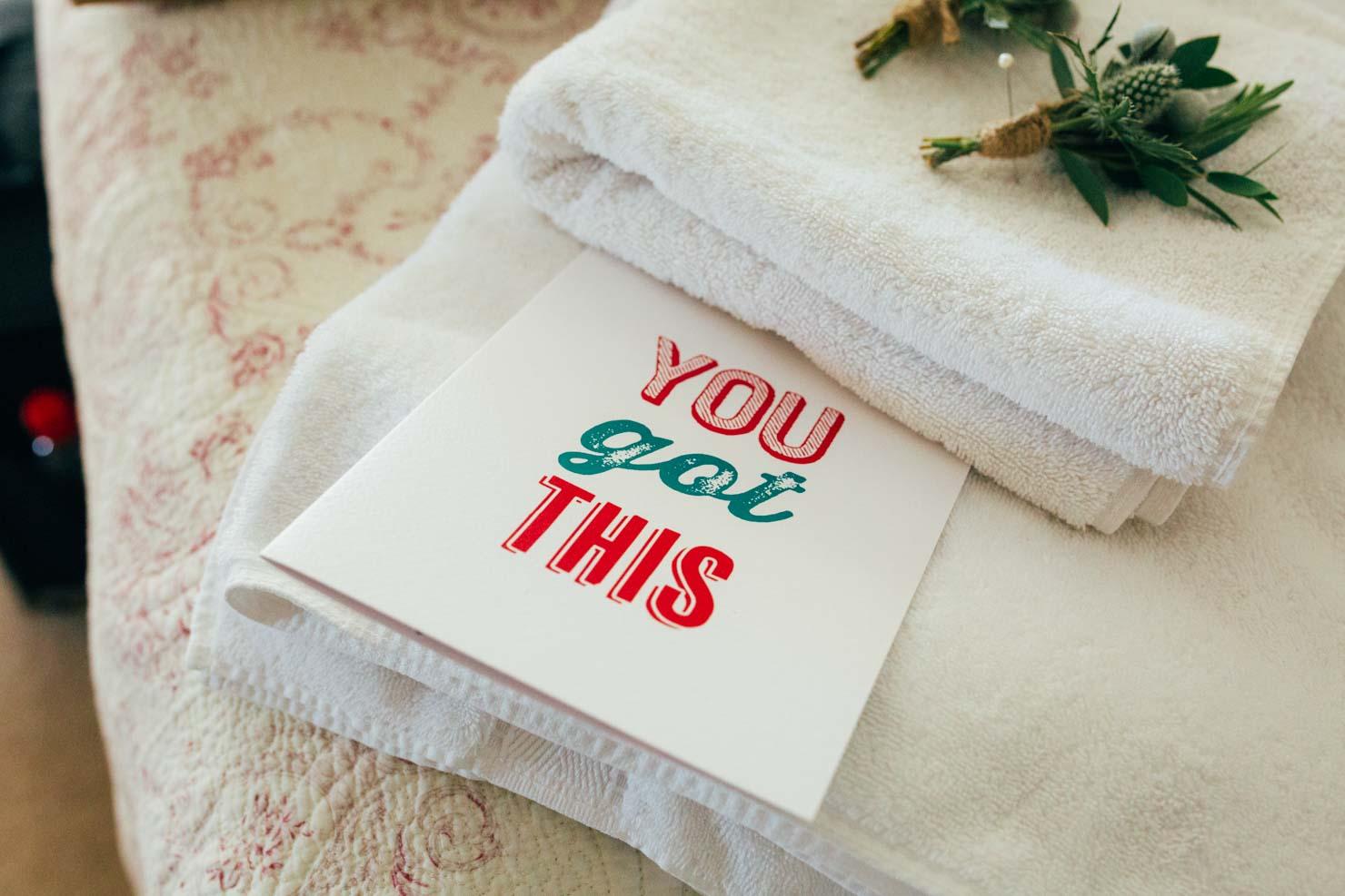 you got this wedding card