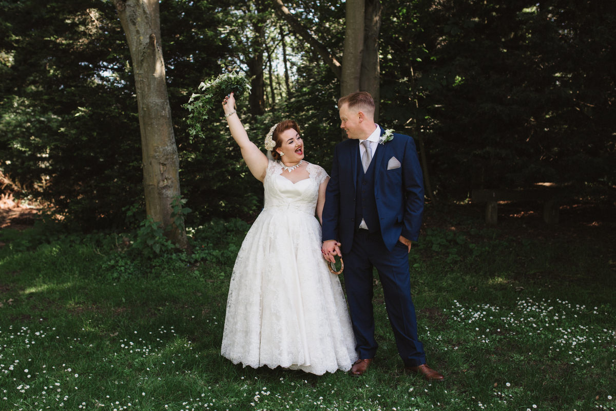 bride and groom portraits outside at OLD RECTORY CROSTWICK WEDDING PHOTOGRAPHY