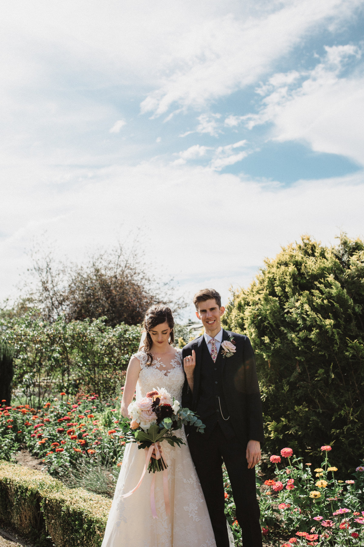 bride and groom portraits at HAUGHLEY PARK BARN WEDDING PHOTOGRAPHY